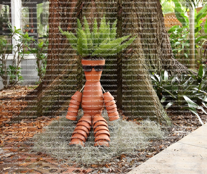 Creative man made out of clay pots.