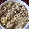 Muesli with hot milk for Brian,