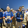 Nate Gorham, Tim Hornik, Steve Baskis and Keving Baskis waiting for the opening ceremony to begin for the Bataan Death March.