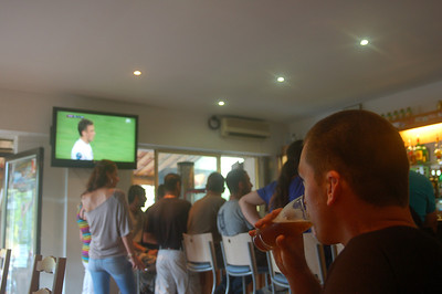 Just made it to see the 2nd half of the opening Euro2012 match Poland-Greece (1:1) in Ste Lucie