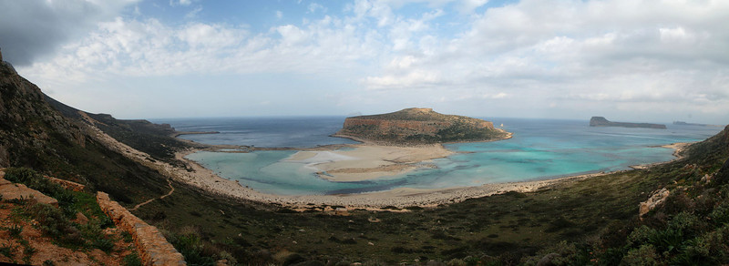 Last view of the Balos beach