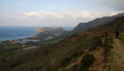 The first view of the west coast. Falassarna below