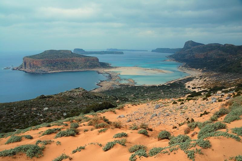 Finally the golden sands of Balos beach
