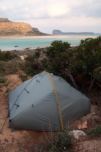 Our tent sheltered from the huge wind