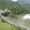 Day 1: One of the first suspension bridges we would cross
