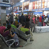 Day 1: Waiting in the domestic terminal for our flight to Lukla