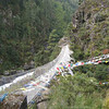 Day 2: Suspension bridge before making the long, steep climb up to Namche Bazaar