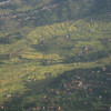 Day 1: View of Nepal's terraced green hills from the plane