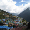 Day 2: View from above of the natural amphitheater of Namche Bazaar (3420m)