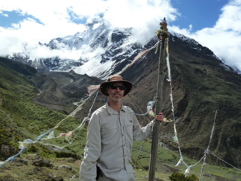 Looking at Samdo peak behind.