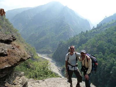 Gautier and Jai heading upriver.