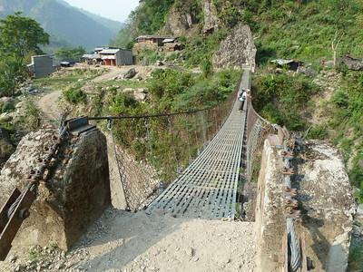 One of dozens of suspension bridges we crossed.