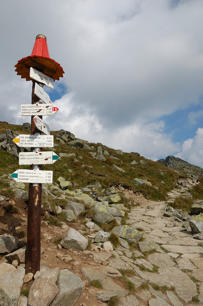 Final sign post before the summit.