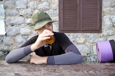 My natural 'beer pose'