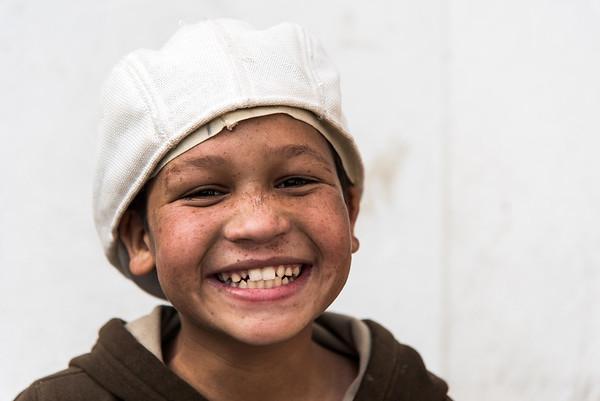 Een van de bewoners van het Disabeld Rehabilitation Center, een van de tehuizen dat door 4 Smiling Faces wordt ondersteund