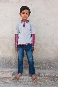 Een van de kinderen in het NWCSS weeshuis, een van de tehuizen dat door 4 Smiling Faces wordt ondersteund