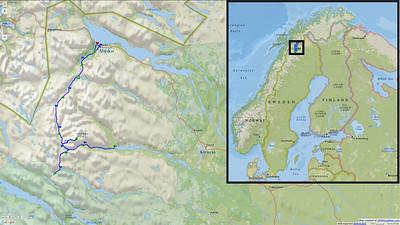 200+km. Kraków -> Stockholm -> Kiruna flight. Nikkaulokta -> Abisko trek.