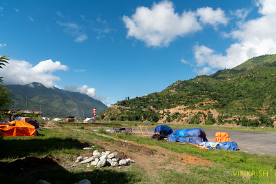 Ramechap airport; Lukla is a short 12-minute flight from here