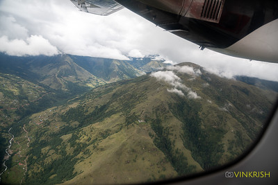 View from the flight to Lukla