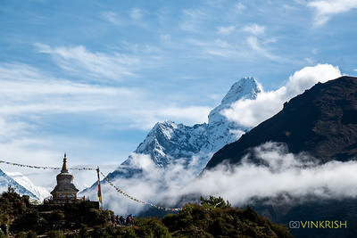 View of Ama Dablam en route Pangboche