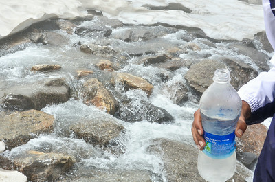 Super chilled mineral water