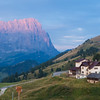 Dawn at the Passo Gardena