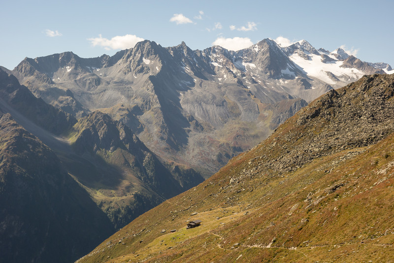 The Seduck Alm, a chamois hunter's hut, was out of apple strudel so we pressed on