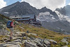 The Kasseler hut is a welcome sight after a long climb.  Their hausgemachte Apfelstrudel was rated best of the trip