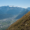 Martigny in the Rhone Valley under the Mont Blanc Massif