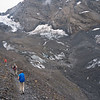 Descending on day 2 to cross the Gamchigletscher