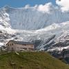Baregg Hut and Fiescherwand