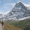 Trail out to Mannlichen.  Now imagine 2  El Capitans stacked on top of each other and you can grasp the scale of the Eiger North Face!