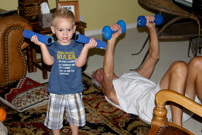Weight Lifting with Grandpa Norman