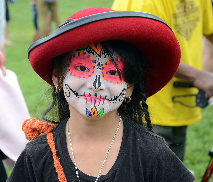 . Alicia Coronado,8yrs,has her face painted at the Official 4th Annual Pork Roll Festival in Mill Hill Park. gregg slaboda photo