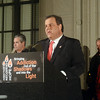 NJ Gov Chris Christie speaks at the 2nd Annual Candlelight Vigil on Wednesday outside the state house . gregg slaboda photo