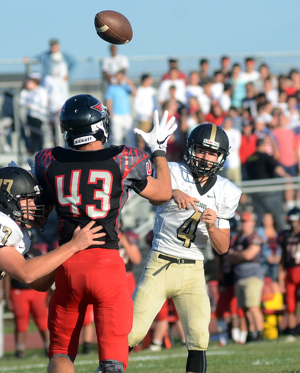 . Hopewell`s Jack Demareski throws a pass against Allentown. gregg slaboda photo