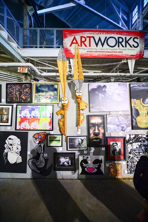. A variety of art is seen at Art All Night in Trenton on June 18, 2016. (For The Trentonian - Scott Ketterer)