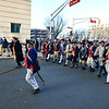 Colonial Soldiers advance down Warren Street toward  battle with British and Hessian troops during the First Battle of Trenton On Saturday Dec. 31, 2016. (Scott Ketterer - The Trentonian)