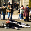 A reenactor lies dead as a casualty during theFirst Battle of Trenton on Saturday Dec. 31, 2016. (Scott Ketterer - The Trentonian)