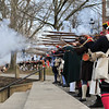 Colonial Army reenactors return fire during the Second Battle of Trenton Reenactment in Mill Hill Park on Saturday Dec. 31, 2016. (Scott Ketterer - The Trentonian)