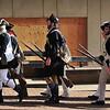 Reenactors march following the First Battle of Trenton Reenactment on Saturday Dec. 31, 2016. (Scott Ketterer - The Trentonian)