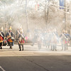 Hessians scramble toward Mill Hill Park during the First Battle of Trenton Reenactment on Dec. 31, 2016 (Scott Ketterer - The Trentonian)