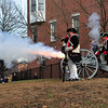Colonial Soldiers fire a cannon during the Second Battle of Trenton On Saturday Dec. 31, 2016 in Mill Hill Park. (Scott Ketterer - The Trentonian)