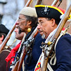 Reenactors shoulder their weapons during the Second Battle of Trenton on Saturday Dec. 31, 2016. (Scott Ketterer - The Trentonian)