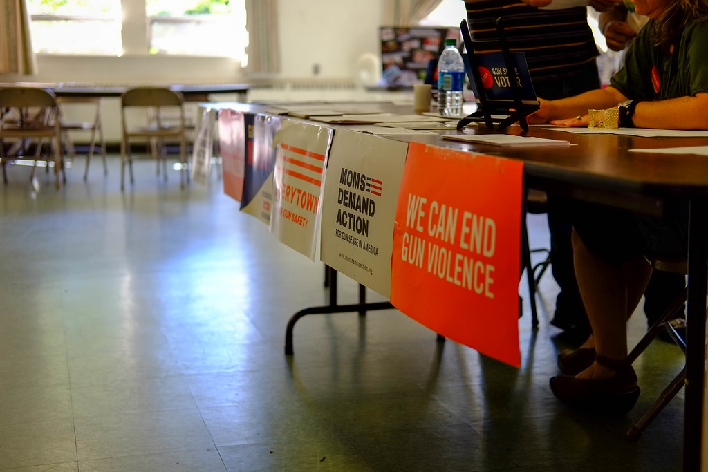 . Moms Demand Action and other groups offered information at Across America to End Gun Violence on Sunday Sept. 25, 2016 in Ewing. (Scott Ketterer - The Trentonian