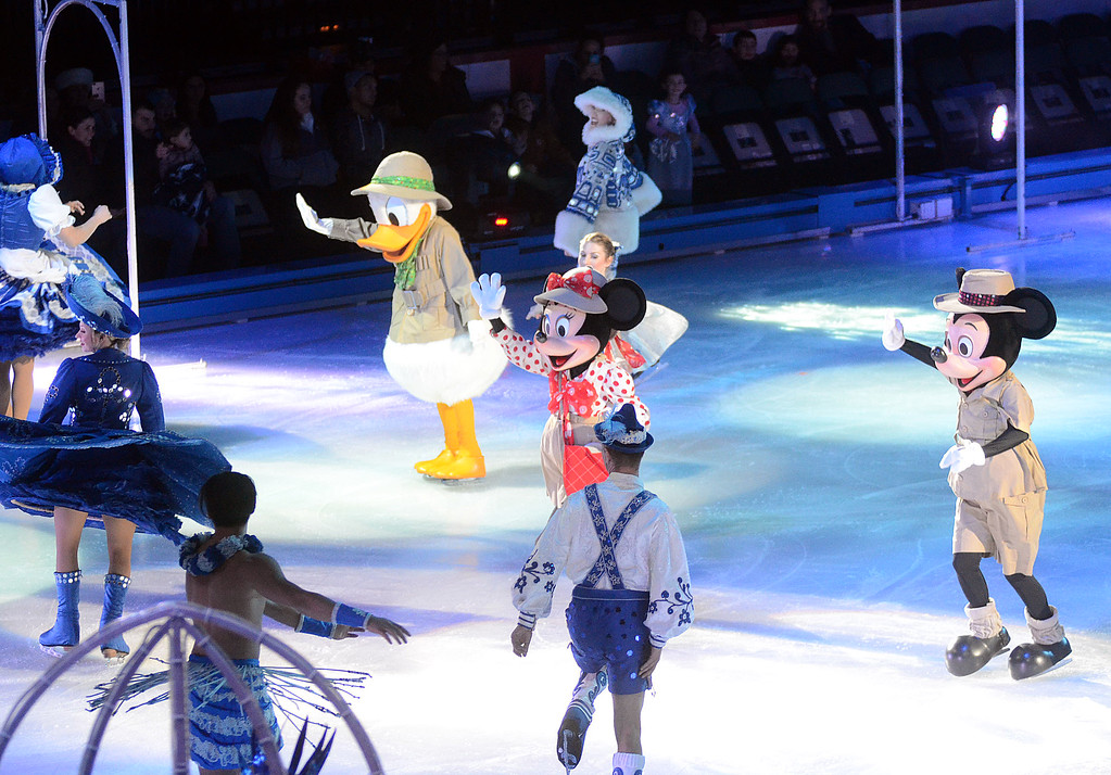 . Disney on Ice characters perform Passport to Adventure at the Sun Bank Center in Trenton on Thursday. gregg slaboda photo