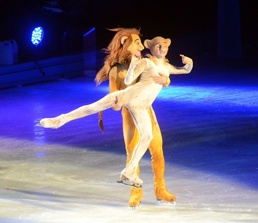 . Disney on Ice characters perform at the Sun National Bank Center in Trenton on Thursday evening. gregg slaboda photo