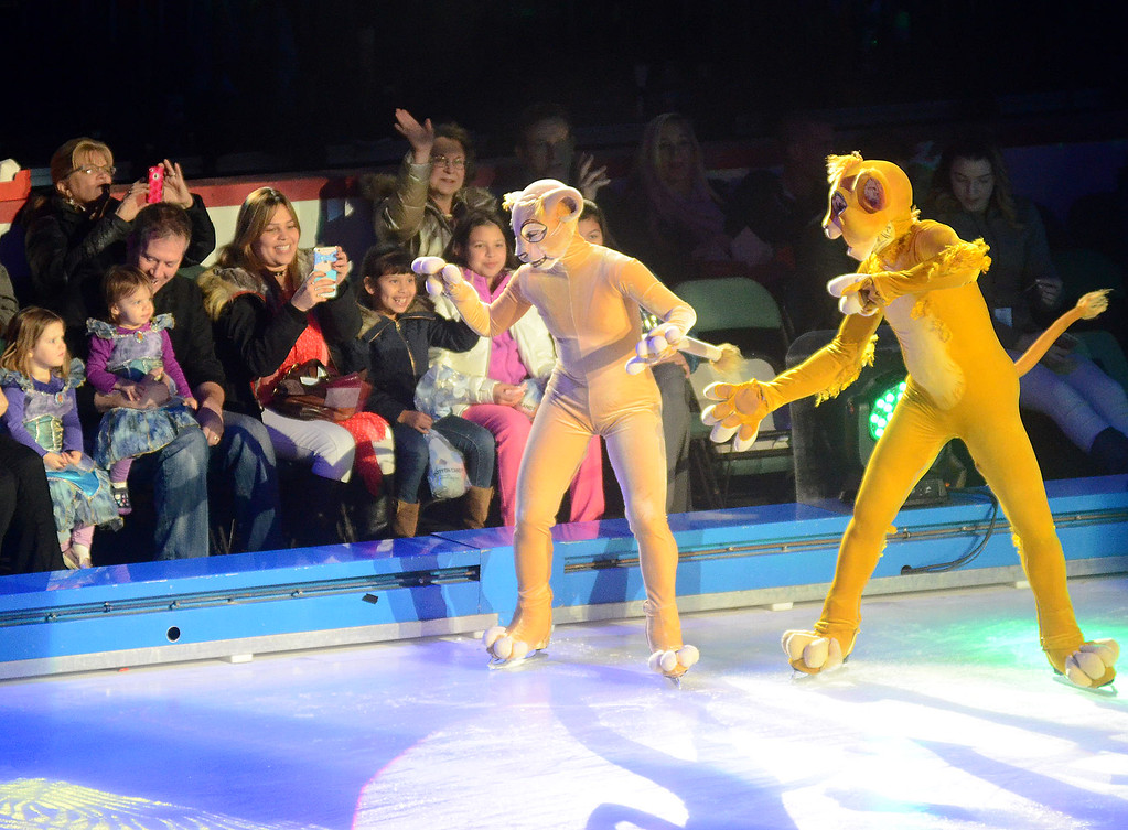 . Disney on Ice characters perform Passport to Adventure at the Sun Bank Center on Thursday. gregg slaboda photo