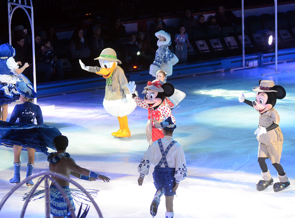 . Disney on Ice characters perform at the Sun National Bank Center on Thursday evening. gregg slaboda photo