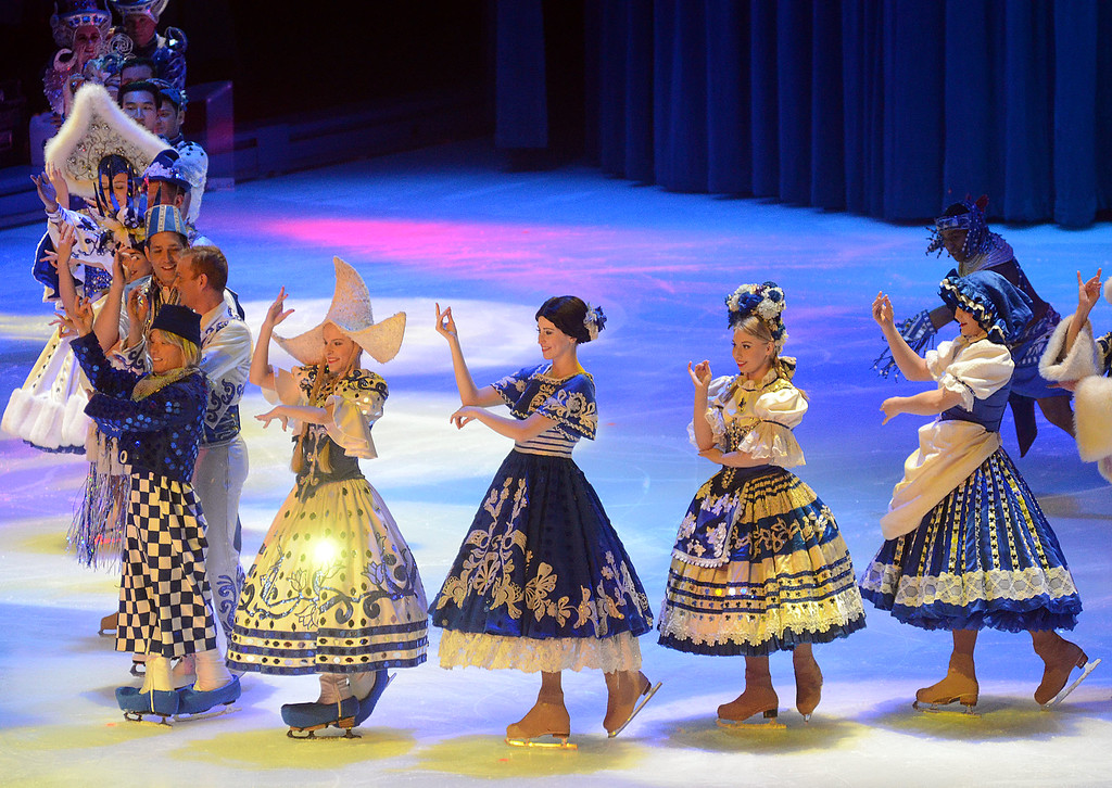 . Disney on Ice characters perform at the Sun National Bank Center in Trenton on Thursday. gregg slaboda photo